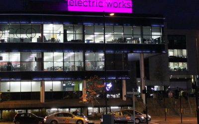 Electric Works Purple Sign, Sheffield